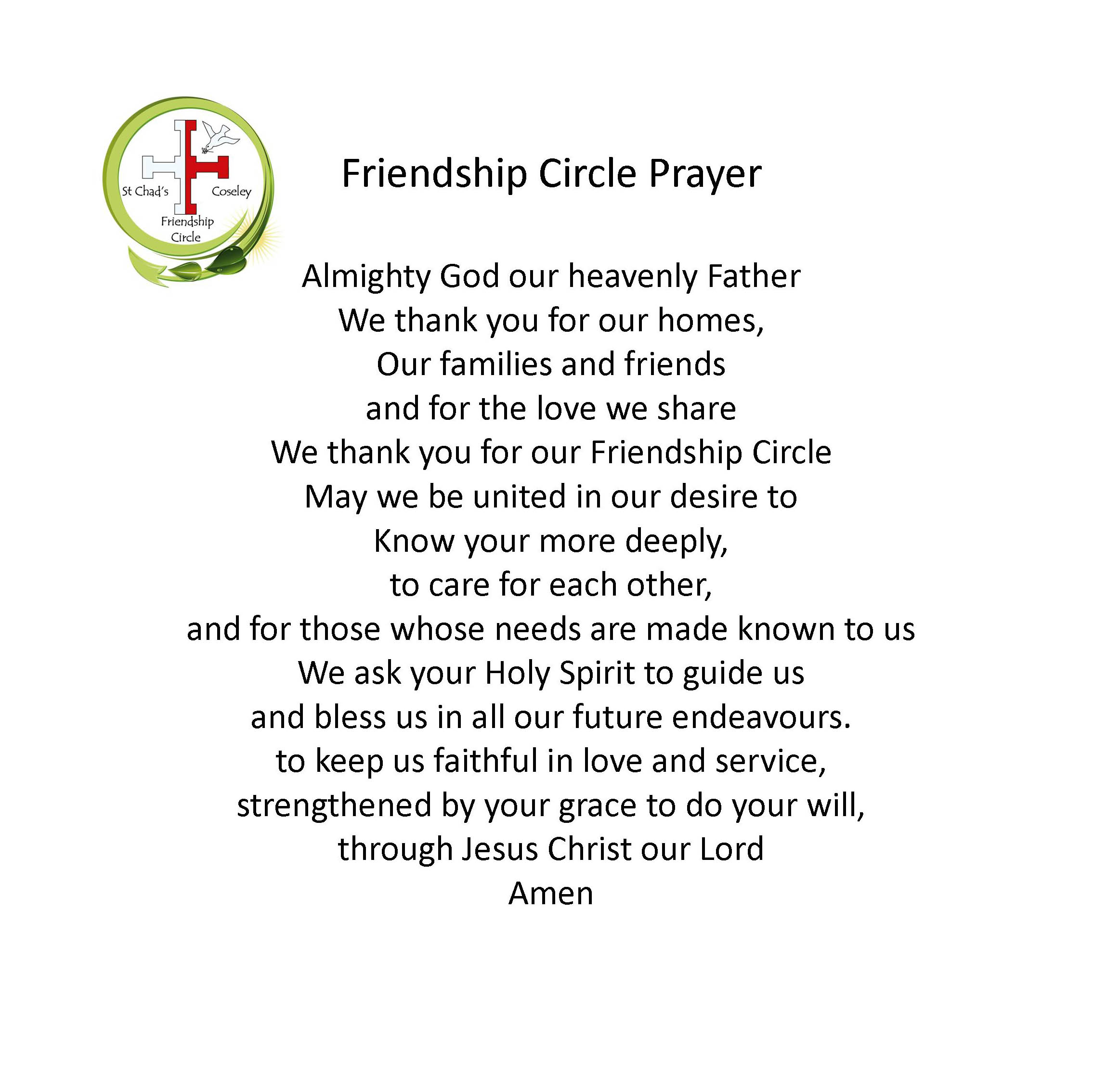 Friendship circle st chads coseley f c prayer altavistaventures Image collections