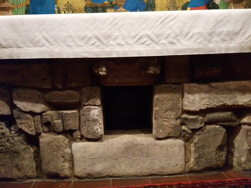 Stones in Altar of Holy House